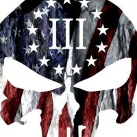 "III% 2up American patriots ""we will not comply"""